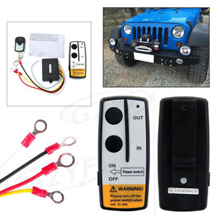 50ft/15M Wireless Winch Remote Control Kit Fit Truck Jeep ATV SUV Long-range 12V