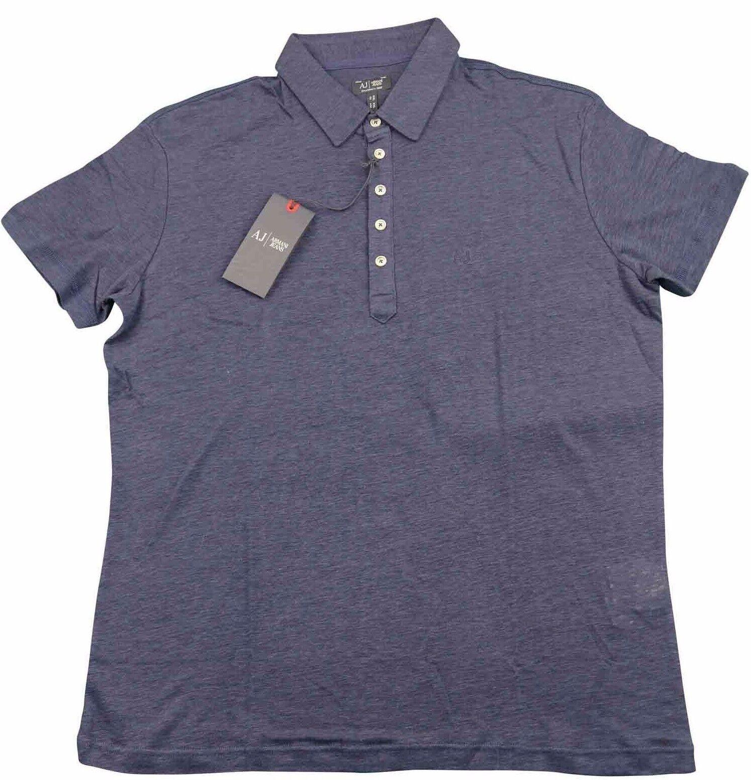 Armani Jeans Mens Navy bluee H S Polo Tshirt - Sz XXL & XXXL BNWT