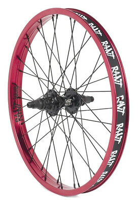 """RANT PARTY ON V2 BMX BIKE 20/"""" FRONT WHEEL FIT SHADOW SUBROSA CULT KINK HARO RED"""