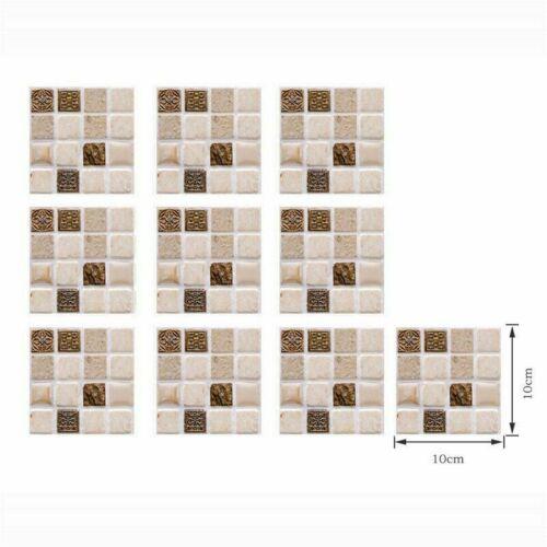 30Pc Kitchen Tile Stickers Bathroom Sticker Mosaic Self-adhesive Wall Home Decor