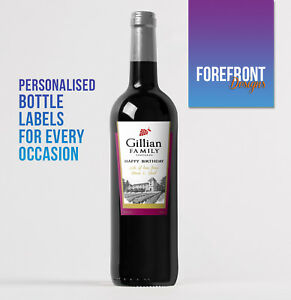Personalised-Red-wine-bottle-label-Perfect-Birthday-Wedding-Graduation-Gift