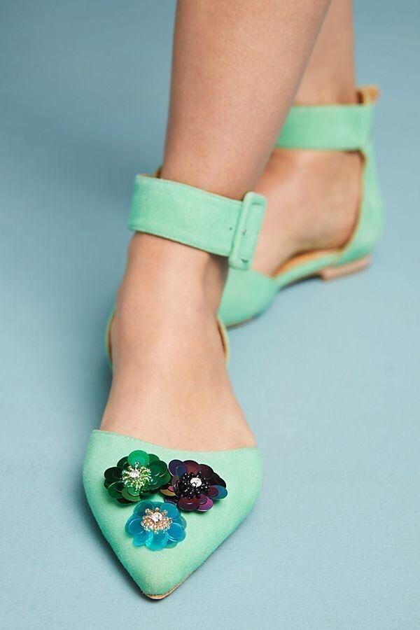 New Bill Blass Sylvie Embellished Flats Size 8.5