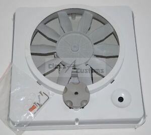Rv vortex 1 single speed universal roof vent fan kit for 12 volt window fan