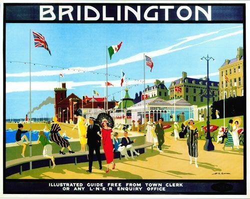Vintage LNER Bridlington Yorkshire Railway Poster A3 A2  Reprint