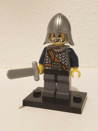 authentic LEGO minifigure Crown Knight Castle cas348 7029 armor sword