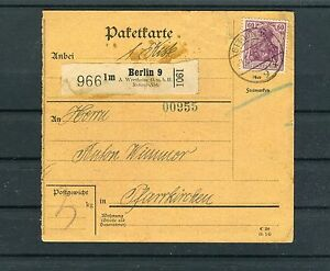 DR-Paketkarte-60-Pfg-Germania-EF-Berlin-Pfarrkirchen-b3305