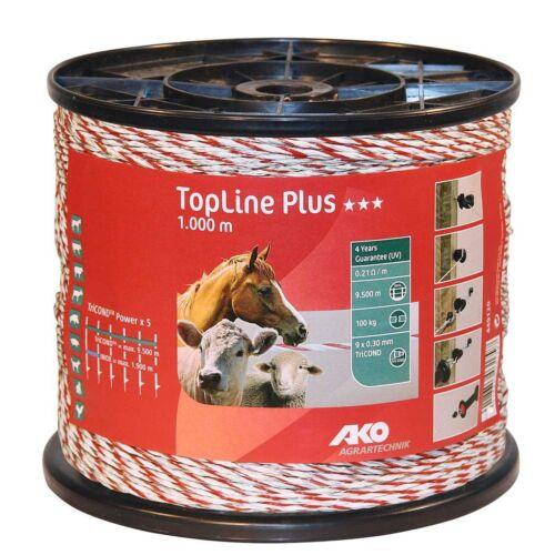 Kerbl TopLine Plus Weidezaunseil  Weidezaun 5 x mehr Leitfähigkeit