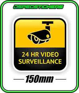 SURVEILLANCE CAMERA WARNING STICKER CCTV 24HR SECURITY NOT A SIGN ALARM SYSTEM