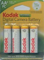 Kodak Pre-Charged AA Size Digital Camera Battery - 4-Pack