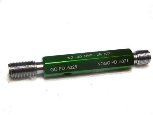 GF Gage Plug Thread Insert 1//2-20 Thread GO//NOGO Double End w//Handle H050020BS