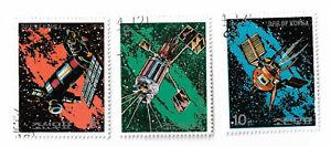 Korea-postage-stamps-1976-Space-Flight-x-3