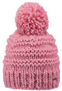 2019-NEW-BARTS-ADULT-BEANIE-JASMIN-HAT-PINK-KNIT-POM-LADY-WOMENS