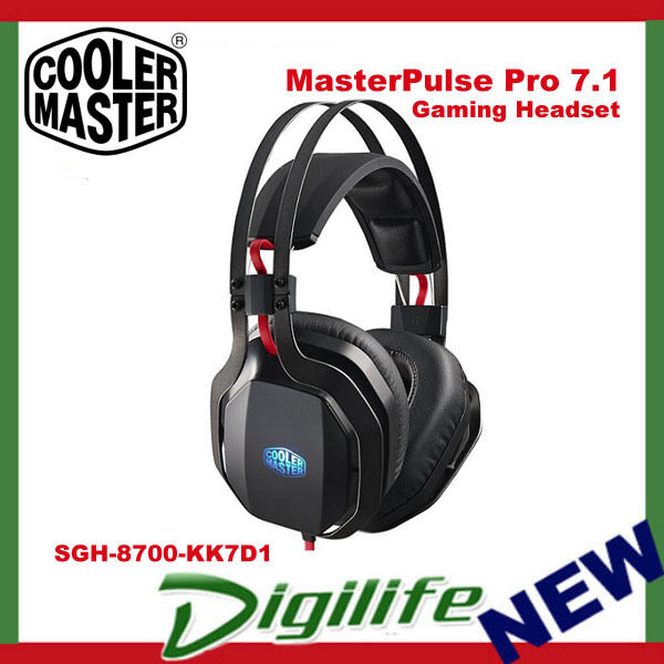 Cooler Master MasterPulse Pro 7.1 Over-Ear Gaming Headset Microphone with BFX