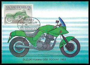 HUNGARY MK MOTORRAD MOTORCYCLE SUZUKI GSX CARTE MAXIMUM CARD MC CM al29