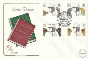 10-FEBRUARY-1982-CHARLES-DARWIN-COTSWOLD-FIRST-DAY-COVER-HMS-BEAGLE-PLYMOUTH-SHS
