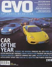 EVO 01/2000 featuring Ariel Atom, Porsche GT3, Aston Martin, Lotus, Ferrari