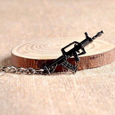 CF Assault Rifles Mini Gun Keychain Metal Weapon Keyring Pendant