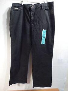 94e1b39d61d00 LEE S WOMEN PLUS SIZE 39 X 30 RELAXED FIT STRAIGHT LEG JEANS-BLACK ...
