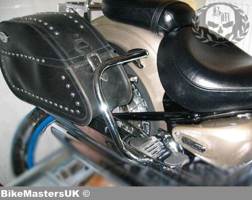 YAMAHA XV 1600 XV1600 WILD STAR STAR CHROME REAR SADDLEBAG GUARD CRASH  BARS