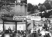 """AK, Wendisch Rietz, """"Haus am Glubigsee"""", 4 Abb., 1968"""