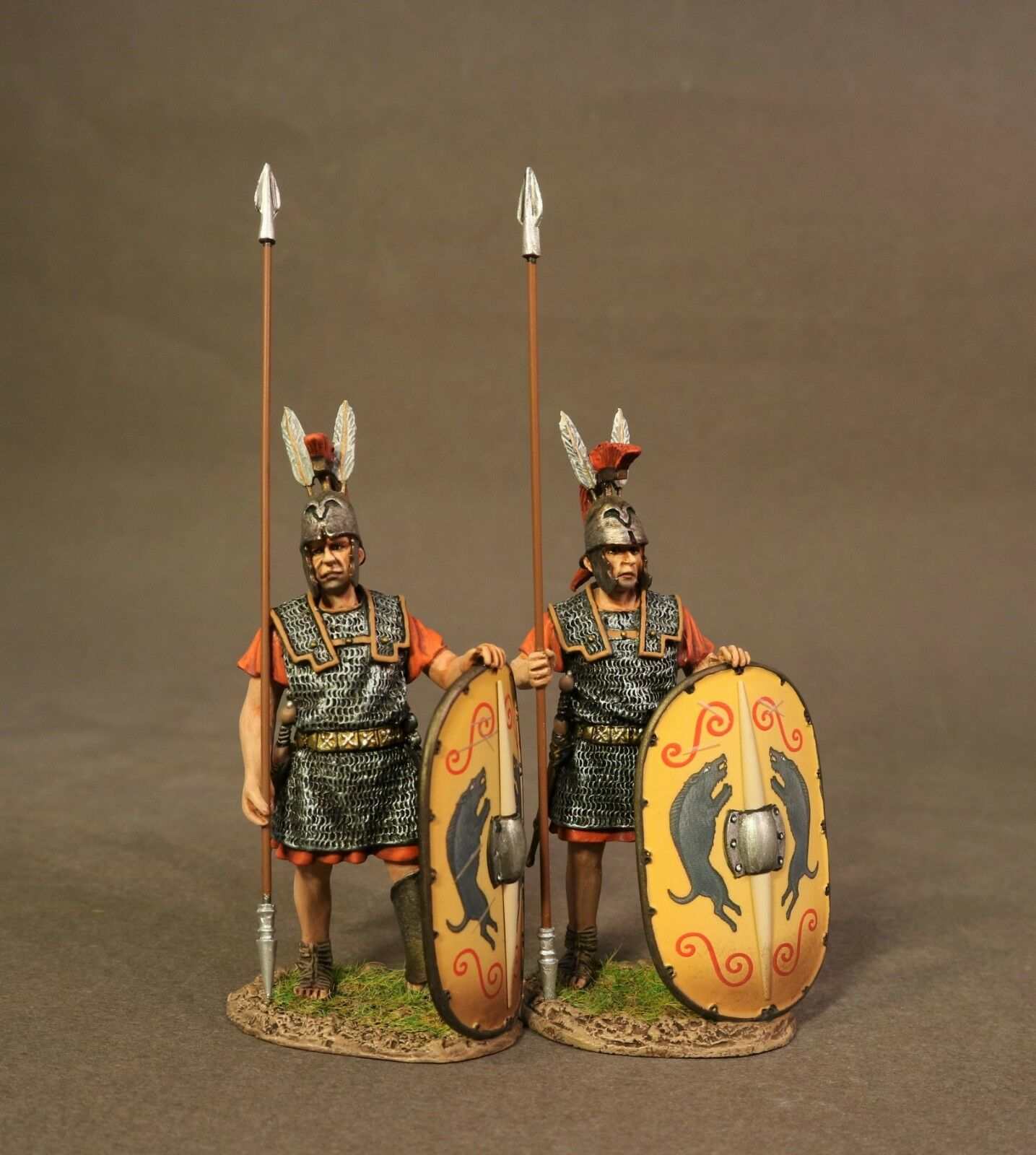 JOHN JENKINS ROMAN EMPIRE AGE OF ARTHUR TMRR-01Y 2 ROMAN TRIARII, STANDING MIB