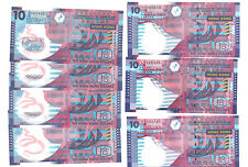 Hong Kong Government $10 Banknote 2003-2014 UNC 7pcs Paper and Polymer