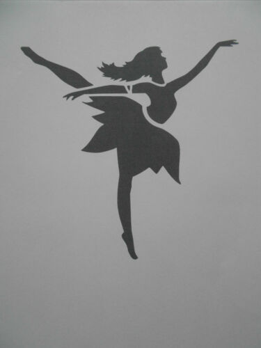 Schablone tanzende Fee auf A4