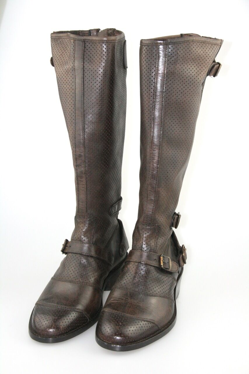 Belstaff botas 757247 trialmaster vent Lady Boot blackbrown nuevo 36 36,5