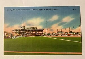 Vintage-Henley-Field-Lakeland-Fla-Winter-Home-Of-The-Detroit-Tigers-Post-Card