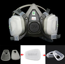 7 in 1 half Face 3M 6200 Spray Painting Protection Respirator Facepiece Gas mask