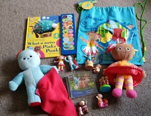 In-The-Night-Garden-toy-bundle-Upsy-Daisy-Iggle-Piggle-sound-book-CD-bag-makka