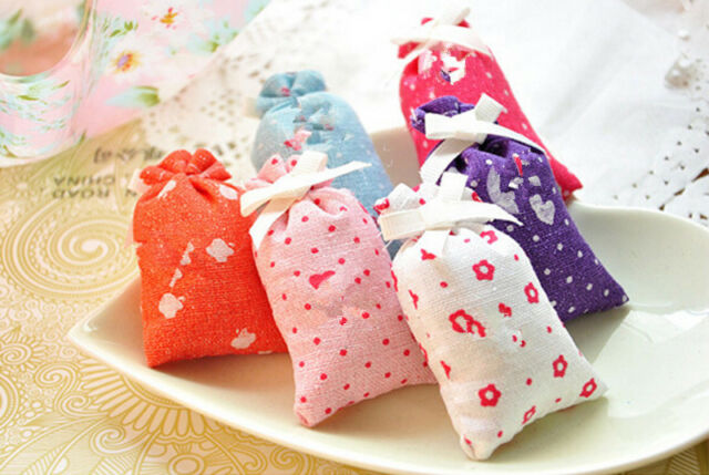 2x Rose Lavender Osmanthus Fridge Car Room Wardrobe Deodorant Air Freshener Bag@