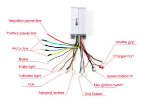 24 volt electric scooter wiring diagram moter my 1018 48v 1800w electric bicycle e-bike scooter brushless dc ... 48v electric scooter wiring diagrams