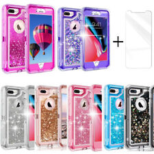 Shockproof Armor 3D Quicksand Glitter Defender Dual Layer Case For Apple iPhone