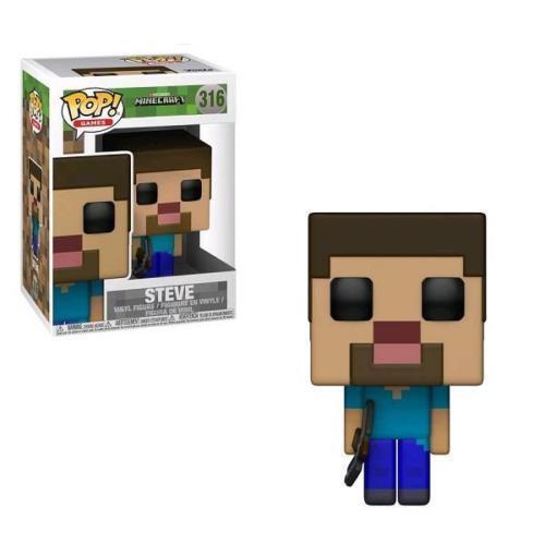 "Minecraft Steve 3.75/"" Pop Vinyl Figure Pop Games Funko 316 Mojang UK seller"