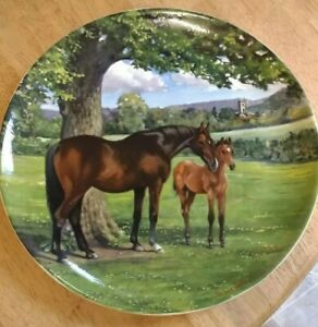 Spode-Plate-no-836K-THE-ENGLISH-THOROUGHBRED-Horse-Excellent-Con-1988