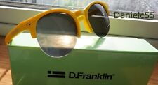 12153bda15 D Franklin America Yellow Matte   Black Sunglasses Club style