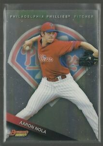 Aaron-Nola-RC-2015-Bowman-039-s-Best-Top-Prospects-Rookie-Card-TP-33-Phillies-MLB