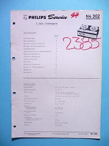 original Zur Verbesserung Der Durchblutung Service Manual-anleitung Für Philips N 4302 Tv, Video & Audio