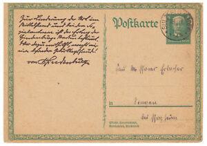 Deutsches-Reich-Ganzsache-P-207-TSt-Sulzfeld-Baden-nach-Singen-18-11-1927