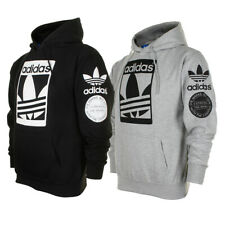 Adidas Men's Original Trefoil Street Graphic Front Pocket Active Pullover Hoodie