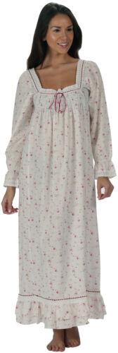 100/% algodón manga larga Victoriano Camisón Martha VR 12 14 16 18 20 22 24 26