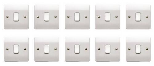 10 x MK K4871WHI Light Switches 1 Gang 2 Way