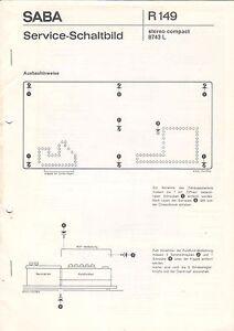 SABA-R-149-stereo-compact-8743-L-Service-Schaltbild-B2903