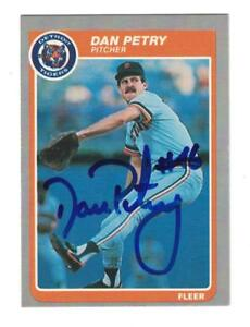 Details About Dan Petry Autograph 1985 Fleer Baseball Card Signed Detroit Tigers