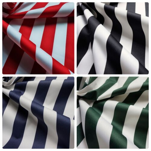 Candy Cart etc Water Resistant 35mm Stripe Canvas Fabric Per Metre Outdoor
