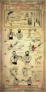 Vintage-Style-Poster-The-Gentleman-s-Guide-to-Amputation-Medical-Anatomy-Art