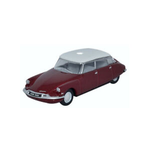 Oxford-oxf76cds004-CITROEN-DS19-ROJO-OSCURO-Blanco-Escala-1-76-213901