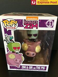 INVADER-ZIM-ZIM-AND-amp-GIR-ON-THE-PIG-FUNKO-POP-RIDE-VINYL-FIGURE-41-NEW