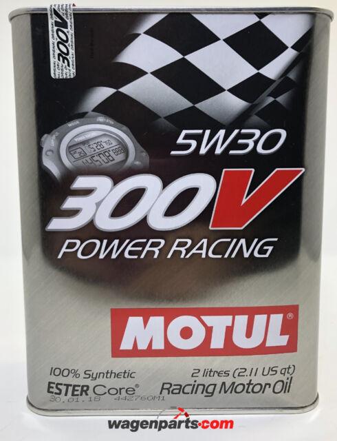Aceite Motor MOTUL 300V Power Racing 5W30, 2 Litros  (Especial Tuning Carreras)